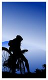Motociclistas da montanha Fotos de Stock Royalty Free