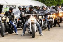 Motociclistas durante o festival da rocha da bicicleta de Belgrado Fotografia de Stock