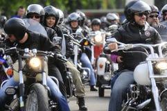 Motociclistas durante o festival da rocha da bicicleta de Belgrado Foto de Stock