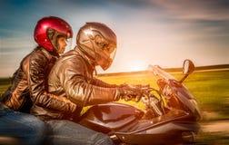 Motociclistas na estrada Foto de Stock