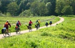 Motociclistas na natureza Fotografia de Stock