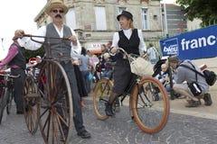 Motociclisti dell'annata. Immagine Stock Libera da Diritti