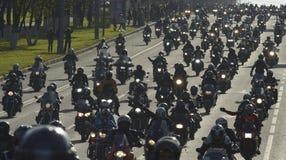 Motociclisti a Mosca Fotografia Stock Libera da Diritti