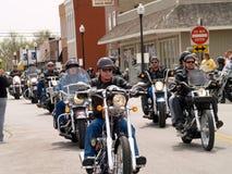 Motociclisti per carità Fotografie Stock
