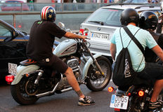 Motociclisti su Barcellona Harley Days 2013 Fotografie Stock