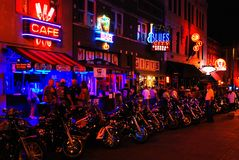 Motociclisti su Beale, Memphis fotografia stock