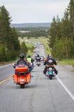 Motociclisti in yellowstone Fotografie Stock