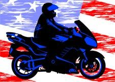 Motociclo americano illustrazione di stock
