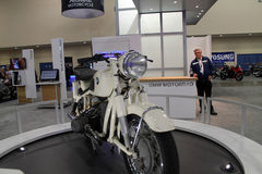 Motociclo bianco classico Fotografia Stock