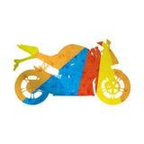 Motociclo, bici di sport della siluetta di lerciume Illustrazione Vettoriale
