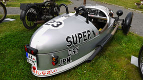 Motociclo che corre, motociclo d'annata, BMW Immagine Stock Libera da Diritti