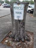 Motociclo che parcheggia soltanto Fotografia Stock