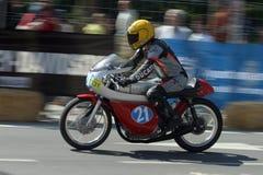 Motociclo classico durante la mostra a Malaga Fotografie Stock