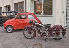 Motociclo classico Moto Guzzi (1939) Immagini Stock