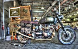 Motociclo costruito britannico di Triumph fotografie stock libere da diritti