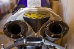 Motociclo del tubo Immagini Stock