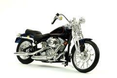 Motociclo dell'annata isolato su bianco Fotografia Stock Libera da Diritti
