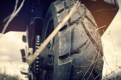Motociclo della ruota Immagine Stock