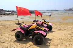 Motociclo della spiaggia Fotografia Stock