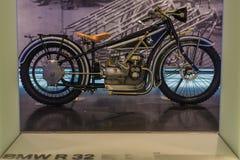 Motociclo di BMW R32 - museo di BMW Fotografia Stock Libera da Diritti