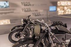 Motociclo di BMW R37 R17 R51RS - museo di BMW Immagini Stock