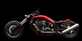 Motociclo di concetto isolato Fotografie Stock