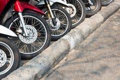 Motociclo di parcheggio Immagini Stock Libere da Diritti