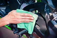 Motociclo di pulizia Fotografia Stock
