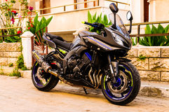 Motociclo di sport alla notte Immagine Stock Libera da Diritti