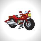Motociclo di tecnica dell'illustrazione dei bambini Immagini Stock Libere da Diritti