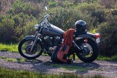 Motociclo ed attrezzo Fotografie Stock