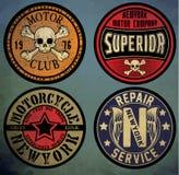 Motociclo Etichetta su ordinazione del motociclo Stampa d'annata del motociclo L royalty illustrazione gratis