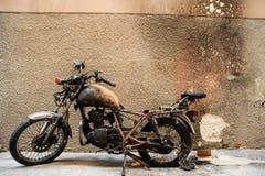 Motociclo fuori bruciato Fotografia Stock Libera da Diritti