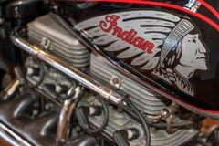 Motociclo indiano Immagine Stock