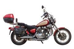 Motociclo isolato su priorità bassa bianca Immagini Stock