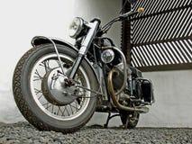 Motociclo nero Fotografie Stock