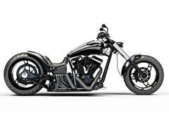 Motociclo nero su ordinazione Fotografie Stock