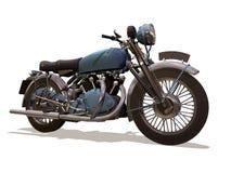 Motociclo retro fotografie stock