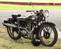 Motociclo ristabilito di BSA Fotografia Stock Libera da Diritti
