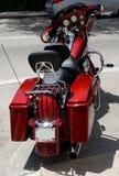 Motociclo rosso Fotografie Stock