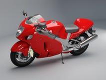 Motociclo rosso Fotografia Stock