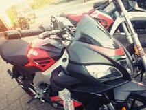 Motociclo rosso di Aprilia Immagini Stock Libere da Diritti