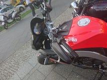 Motociclo rosso di Aprilia Immagine Stock Libera da Diritti