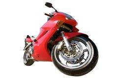 Motociclo rosso di sport Fotografie Stock
