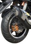 Motociclo, rotella Fotografia Stock