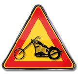 Motociclo, selettore rotante e libertà Immagini Stock Libere da Diritti