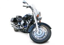 Motociclo su priorità bassa bianca Immagine Stock