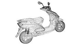 Motociclo su un fondo Fotografie Stock Libere da Diritti