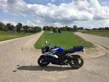 Motocikle för moped för SUPERBiKEsupermotobritva fotografering för bildbyråer