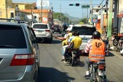 Motoconcho en la República Dominicana Imágenes de archivo libres de regalías